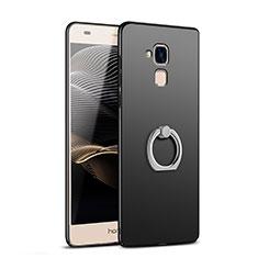 Coque Plastique Rigide Mat avec Support Bague Anneau A03 pour Huawei Honor 5C Noir