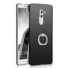 Coque Plastique Rigide Mat avec Support Bague Anneau A03 pour Huawei Honor 6X Pro Noir