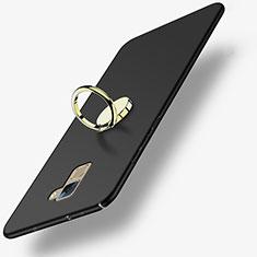Coque Plastique Rigide Mat avec Support Bague Anneau A03 pour Huawei Honor 7 Dual SIM Noir