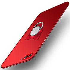 Coque Plastique Rigide Mat avec Support Bague Anneau A03 pour Huawei Honor V10 Rouge