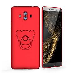 Coque Plastique Rigide Mat avec Support Bague Anneau A03 pour Huawei Mate 10 Rouge