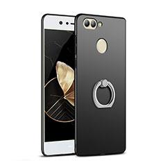 Coque Plastique Rigide Mat avec Support Bague Anneau A03 pour Huawei Nova 2 Noir