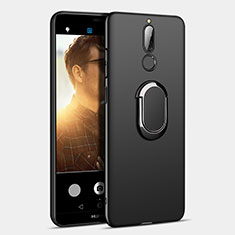 Coque Plastique Rigide Mat avec Support Bague Anneau A03 pour Huawei Nova 2i Noir