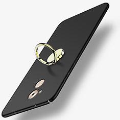 Coque Plastique Rigide Mat avec Support Bague Anneau A03 pour Huawei Nova Smart Noir