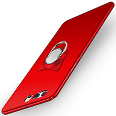Coque Plastique Rigide Mat avec Support Bague Anneau A03 pour Huawei P10 Rouge