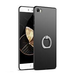 Coque Plastique Rigide Mat avec Support Bague Anneau A03 pour Xiaomi Mi 5 Noir