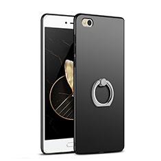 Coque Plastique Rigide Mat avec Support Bague Anneau A03 pour Xiaomi Mi 5C Noir