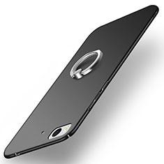 Coque Plastique Rigide Mat avec Support Bague Anneau A03 pour Xiaomi Mi 5S Noir