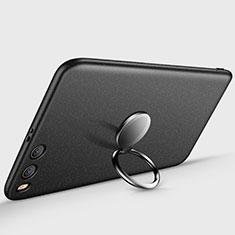 Coque Plastique Rigide Mat avec Support Bague Anneau A03 pour Xiaomi Mi 6 Noir