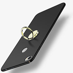 Coque Plastique Rigide Mat avec Support Bague Anneau A03 pour Xiaomi Mi Max Noir