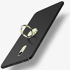 Coque Plastique Rigide Mat avec Support Bague Anneau A03 pour Xiaomi Redmi Note 4X High Edition Noir