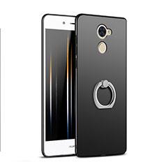 Coque Plastique Rigide Mat avec Support Bague Anneau A04 pour Huawei Enjoy 7 Plus Noir