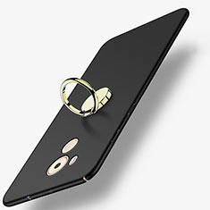 Coque Plastique Rigide Mat avec Support Bague Anneau A04 pour Huawei Mate 8 Noir