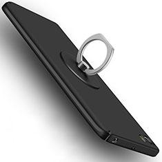 Coque Plastique Rigide Mat avec Support Bague Anneau A04 pour Xiaomi Mi 5 Noir