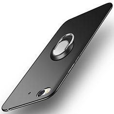 Coque Plastique Rigide Mat avec Support Bague Anneau A04 pour Xiaomi Mi 5S Noir
