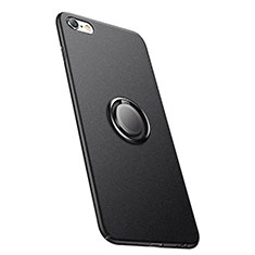 Coque Plastique Rigide Mat avec Support Bague Anneau A05 pour Apple iPhone 6 Noir