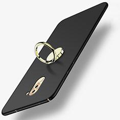 Coque Plastique Rigide Mat avec Support Bague Anneau A05 pour Huawei Honor 6X Pro Noir