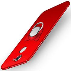 Coque Plastique Rigide Mat avec Support Bague Anneau A05 pour Huawei Y7 Prime Rouge