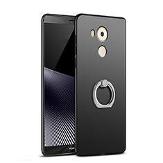 Coque Plastique Rigide Mat avec Support Bague Anneau A06 pour Huawei Mate 8 Noir