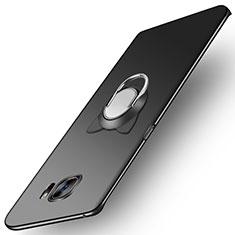 Coque Plastique Rigide Mat avec Support Bague Anneau Aimante pour Samsung Galaxy S7 Edge G935F Noir