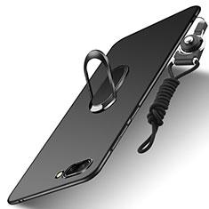 Coque Plastique Rigide Mat avec Support Bague Anneau et Laniere pour Huawei Honor 10 Noir