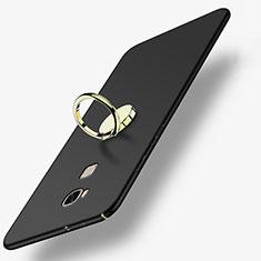 Coque Plastique Rigide Mat avec Support Bague Anneau pour Huawei GR5 Noir