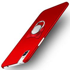 Coque Plastique Rigide Mat avec Support Bague Anneau pour Huawei Honor 7i shot X Rouge