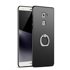 Coque Plastique Rigide Mat avec Support Bague Anneau pour Huawei Mate S Noir