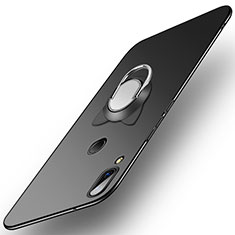 Coque Plastique Rigide Mat avec Support Bague Anneau pour Huawei P20 Lite Noir