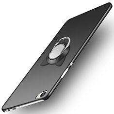 Coque Plastique Rigide Mat avec Support Bague Anneau pour Huawei P8 Max Noir