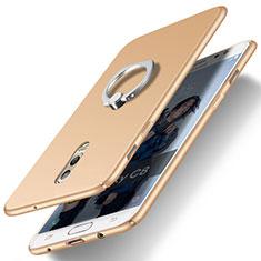 Coque Plastique Rigide Mat avec Support Bague Anneau pour Samsung Galaxy C8 C710F Or