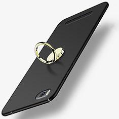 Coque Plastique Rigide Mat avec Support Bague Anneau pour Xiaomi Mi 4C Noir