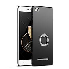 Coque Plastique Rigide Mat avec Support Bague Anneau pour Xiaomi Redmi 3 Noir