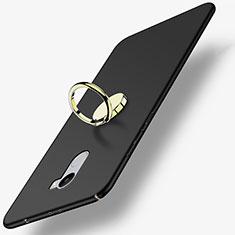 Coque Plastique Rigide Mat avec Support Bague Anneau pour Xiaomi Redmi 4 Standard Edition Noir