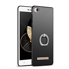 Coque Plastique Rigide Mat avec Support Bague Anneau pour Xiaomi Redmi 4A Noir