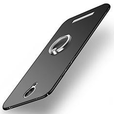 Coque Plastique Rigide Mat avec Support Bague Anneau pour Xiaomi Redmi Note 2 Noir