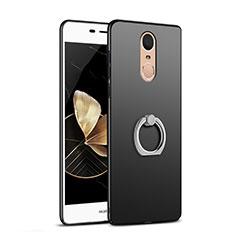 Coque Plastique Rigide Mat avec Support Bague Anneau Q02 pour Huawei Enjoy 6 Noir