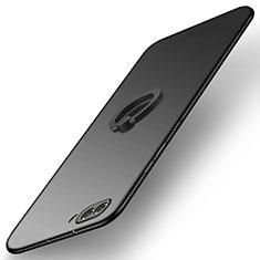 Coque Plastique Rigide Mat avec Support Bague Anneau Q03 pour Huawei Honor V10 Noir