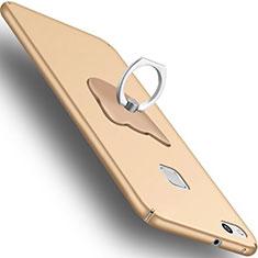Coque Plastique Rigide Mat et Support Bague Anneau C01 pour Huawei P10 Lite Or