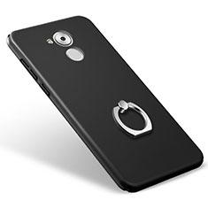 Coque Plastique Rigide Mat et Support Bague Anneau pour Huawei Enjoy 6S Noir