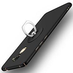 Coque Plastique Rigide Mat et Support Bague Anneau pour Huawei Enjoy 7 Plus Noir