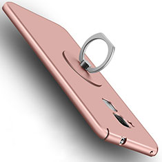 Coque Plastique Rigide Mat et Support Bague Anneau pour Huawei Honor 5C Or Rose