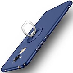 Coque Plastique Rigide Mat et Support Bague Anneau pour Huawei Honor 6A Bleu