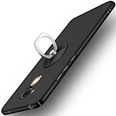 Coque Plastique Rigide Mat et Support Bague Anneau pour Huawei Honor 6C Pro Noir