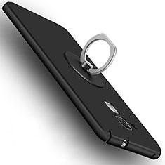 Coque Plastique Rigide Mat et Support Bague Anneau pour Huawei Honor 7 Lite Noir