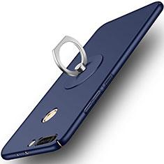 Coque Plastique Rigide Mat et Support Bague Anneau pour Huawei Honor 8 Pro Bleu