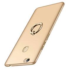 Coque Plastique Rigide Mat et Support Bague Anneau pour Huawei Honor V8 Max Or