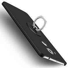 Coque Plastique Rigide Mat et Support Bague Anneau pour Huawei Mate 8 Noir