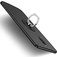 Coque Plastique Rigide Mat et Support Bague Anneau pour Huawei Mate 9 Pro Noir