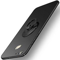 Coque Plastique Rigide Mat et Support Bague Anneau pour Huawei Nova 2 Plus Noir